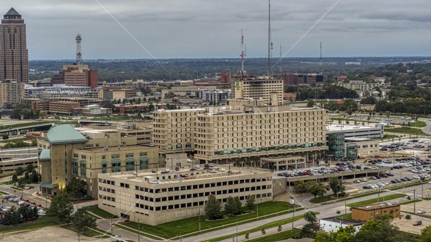 A hospital in Des Moines, Iowa Aerial Stock Photos | DXP002_167_0002