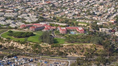 AX0159_195.0000069 - Aerial stock photo of The Laguna Cliffs Marriott Resort & Spa in Dana Point, California
