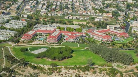 AX0159_197.0000431 - Aerial stock photo of Laguna Cliffs Marriott Resort & Spa hotel in Dana Point, California
