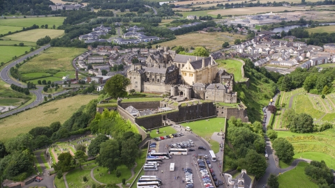 AX109_035.0000000F - Aerial stock photo of Iconic Stirling Castle in Scotland