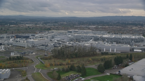 AX155_002.0000248F - Aerial stock photo of Intel Ronler Acres Campus, Hillsboro, Oregon