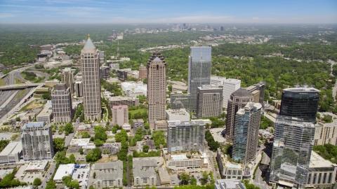 AX36_012.0000067F - Aerial stock photo of Midtown Atlanta skyscrapers, Georgia