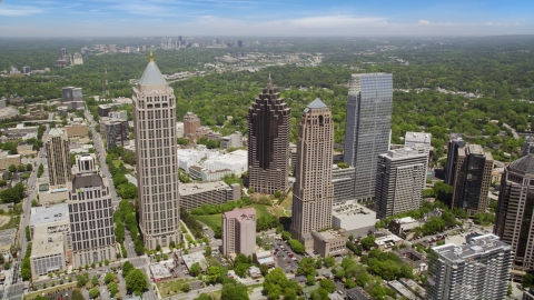 AX36_012.0000290F - Aerial stock photo of Midtown Atlanta skyscrapers and buildings, Atlanta, Georgia