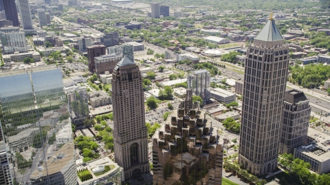 AX36_016.0000023F - Aerial stock photo of Midtown skyscrapers, Atlanta, Georgia