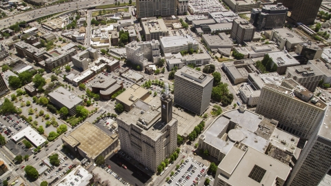 AX36_024.0000333F - Aerial stock photo of The AT&T Communications Building in Downtown Atlanta, Georgia