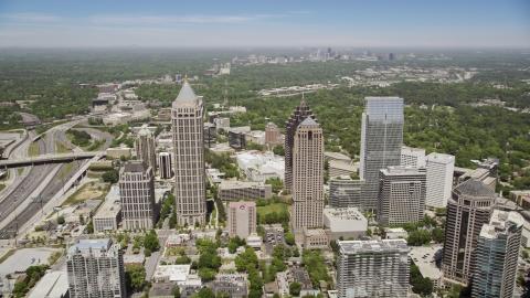 AX36_043.0000070F - Aerial stock photo of GLG Grand and One Atlantic Center, Midtown Atlanta