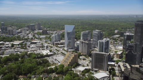 AX36_066.0000132F - Aerial stock photo of Terminus Atlanta, office buildings and high-rises, Buckhead, Georgia