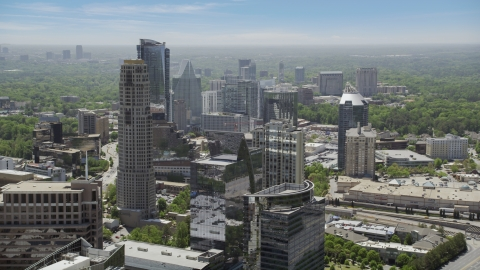 AX36_074.0000067F - Aerial stock photo of Skyscrapers and high-rises, Buckhead, Georgia