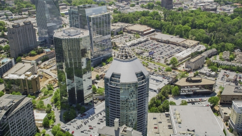 AX36_076.0000045F - Aerial stock photo of The Buckhead Grand, Bulkhead, Georgia