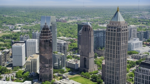 AX36_088.0000130F - Aerial stock photo of One Atlantic Center and Midtown Atlanta skyscrapers, Georgia