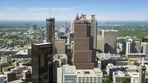 AX37_014.0000000F - Aerial stock photo of Downtown skyscrapers, Atlanta, Georgia