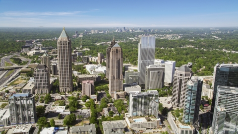 AX37_020.0000031F - Aerial stock photo of Midtown skyscrapers, Atlanta, Georgia