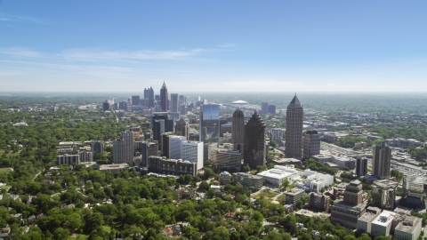 AX37_023.0000050F - Aerial stock photo of Midtown Atlanta skyline, Georgia