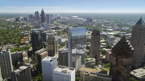 AX37_025.0000024F - Aerial stock photo of 1180 Peachtree, Midtown Atlanta, Georgia
