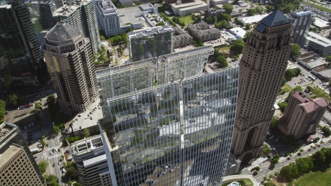 AX37_025.0000255F - Aerial stock photo of 1180 Peachtree, Midtown Atlanta, Georgia