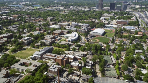 AX37_029.0000078F - Aerial stock photo of Georgia Institute of Technology campus, Atlanta, Georgia