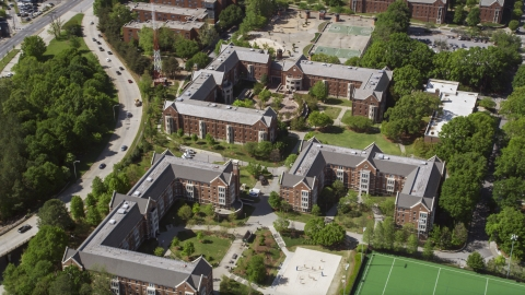 AX37_031.0000176F - Aerial stock photo of Residence Halls at the Georgia Institute of Technology, Georgia