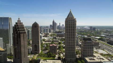 AX37_040.0000308F - Aerial stock photo of Midtown Atlanta skyscrapers, Georgia