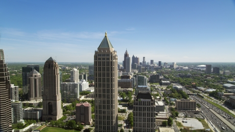 AX37_040.0000425F - Aerial stock photo of Midtown Atlanta skyscrapers, Georgia