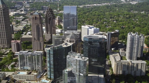 AX37_069.0000271F - Aerial stock photo of Midtown Atlanta skyscrapers, Georgia