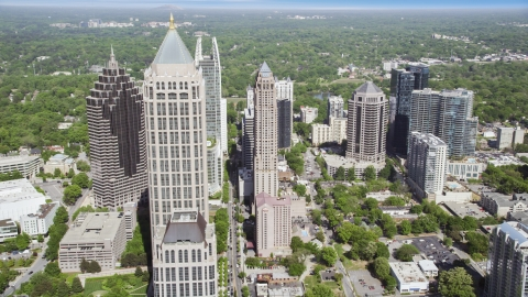 AX37_082.0000131F - Aerial stock photo of Midtown Atlanta skyscrapers, Georgia