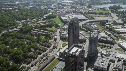 AX37_083.0000062F - Aerial stock photo of The Atlantic skyscraper, Atlanta, Georgia