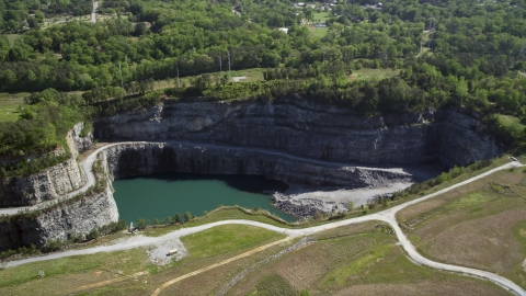 AX37_087.0000110F - Aerial stock photo of Bellwood Quarry, Atlanta, Georgia