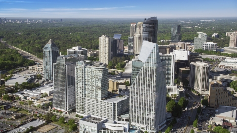 AX38_014.0000000F - Aerial stock photo of Terminus Atanta, Buckhead, Georgia
