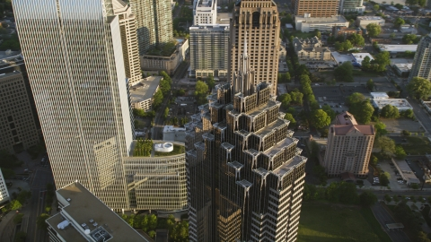 AX39_055.0000204F - Aerial stock photo of Top of Promenade II, Midtown Atlanta, Georgia