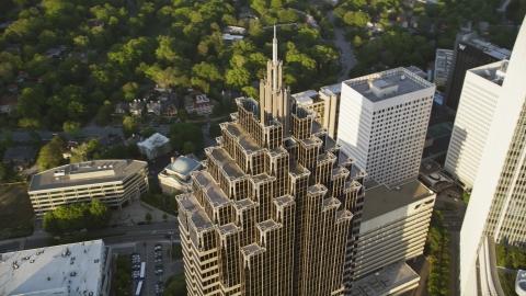AX39_056.0000147F - Aerial stock photo of Top of Promenade II, Midtown Atlanta, Georgia