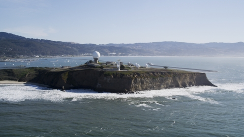 DFKSF15_068.0000213 - Aerial stock photo of Pillar Point Air Force Station, Half Moon Bay, California