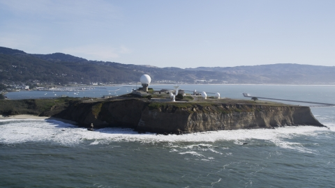 DFKSF15_068.0000254 - Aerial stock photo of Pillar Point Air Force Station in Half Moon Bay, California