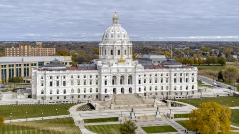 DXP001_000372 - Aerial stock photo of The Minnesota State Capitol building in Saint Paul, Minnesota
