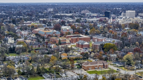 DXP001_099_0006 - Aerial stock photo of The Transylvania University campus in Lexington, Kentucky
