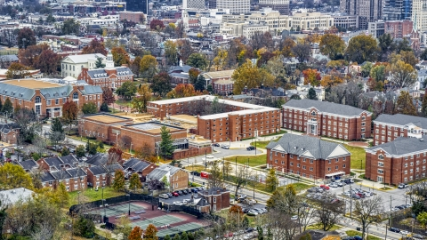 DXP001_099_0008 - Aerial stock photo of The campus of Transylvania University in Lexington, Kentucky