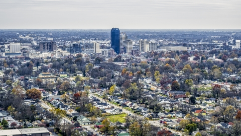 DXP001_099_0011 - Aerial stock photo of City skyline seen from neighborhoods, Downtown Lexington, Kentucky