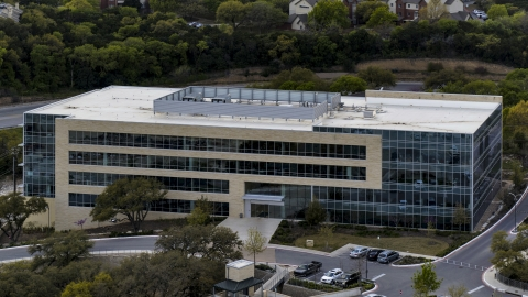 DXP002_104_0009 - Aerial stock photo of A modern office building in Austin, Texas