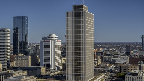 DXP002_113_0011 - Aerial stock photo of A view of Tennessee Tower in Downtown Nashville, Tennessee
