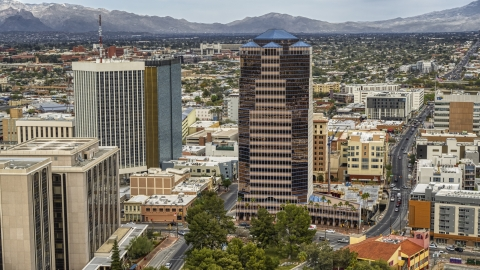 DXP002_145_0005 - Aerial stock photo of The One South Church office high-rise in Downtown Tucson, Arizona