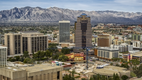DXP002_145_0007 - Aerial stock photo of The One South Church office building in Downtown Tucson, Arizona