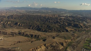 AF0001_000048 - HD stock footage aerial video flyby Castaic Lake and Castaic Dam in California