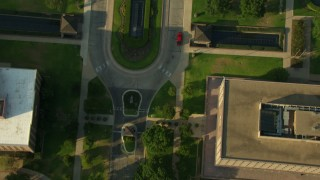 AF0001_000144 - Aerial stock footage of Bird's eye view of the Texas State Capitol in Downtown Austin, Texas