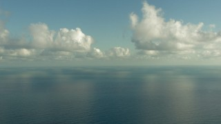 AF0001_000185 - HD stock footage aerial video fly over the Gulf of Mexico and pan across the water