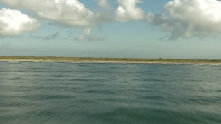 AF0001_000197 - HD stock footage aerial video fly low over the Gulf of Mexico and the Matagorda Peninsula, Texas
