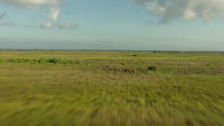 AF0001_000198 - HD stock footage aerial video fly low over marsh on the Matagorda Peninsula, Texas