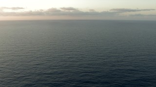 AF0001_000349 - HD stock footage aerial video of flying low over the Gulf of Mexico at sunrise