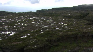AF0001_000590 - HD stock footage aerial video fly over the top of a flat tropical peak in the Guiana Highlands, Southern Venezuela