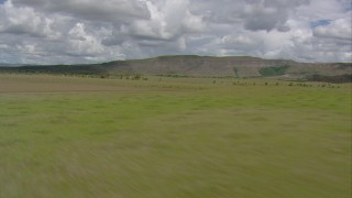 AF0001_000647 - HD stock footage aerial video of mountains seen from savanna in Southern Venezuela