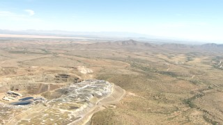 AF0001_000875 - HD stock footage aerial video of flying over a quarry in the desert near Dragoon, Arizona