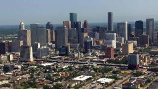 Houston, TX Aerial Stock Footage